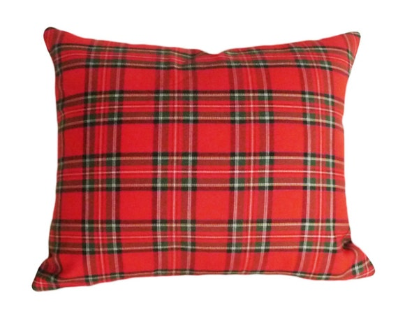 Plaid Pillows Red Throw Pillow Christmas Plaid Tartan