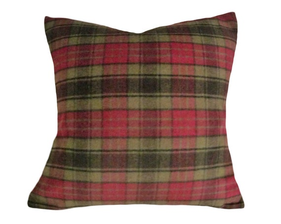 Red Plaid Throw Pillow Cover : Red Plaid Pillows Tartan Pillow Cover Canadian by PillowThrowDecor