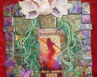 Faerie Worlds Mosaic light Shadow Box