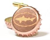 Copper Dogfish Head Beer Bottle Cap Cuff Links Cufflinks