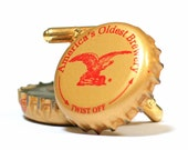 Gold Yuengling Eagle Bottle Cap Cuff Links