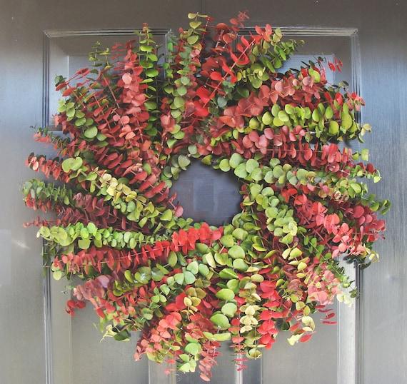 Dried Floral Christmas Wreath- Eucalyptus Wreath- Dried Floral Wreath- Holiday Decor
