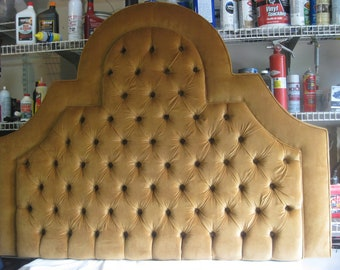 Custom Upholstered Headboard Tufted Headboard Morning Sun Style Tufted Headboard with Buttons