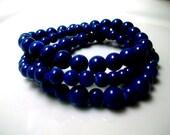 Navy Blue Stack Bracelets / stretch to size 7-8 / Back to school fashion