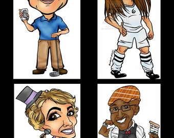 1 Person Gift Caricature by Email, Graduation Retirement Realtor Digital Caricature, Digital Custom Online Cartoon Caricature Photo Gift