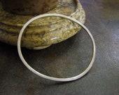 Textured Sterling Silver Bangle Bracelet
