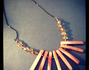 Shell bib necklace