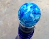 Seascape Wine Bottle Stopper