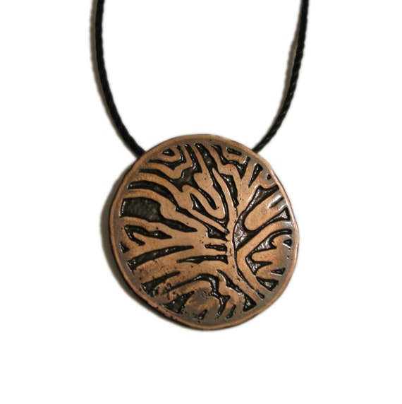 Etched Copper Jewelry - Custom Imagery  - Leaf Pattern