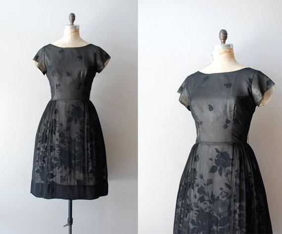 1950s dress / 50s black dress / Grand Illusion dress