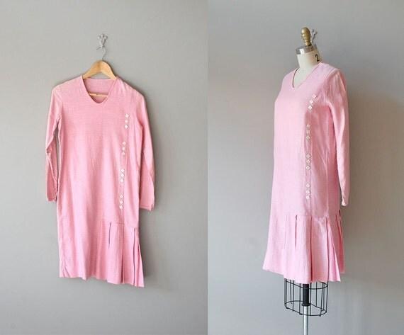 S A L E .... 20s dress / linen 1920s dress / Bubble Gum Girl