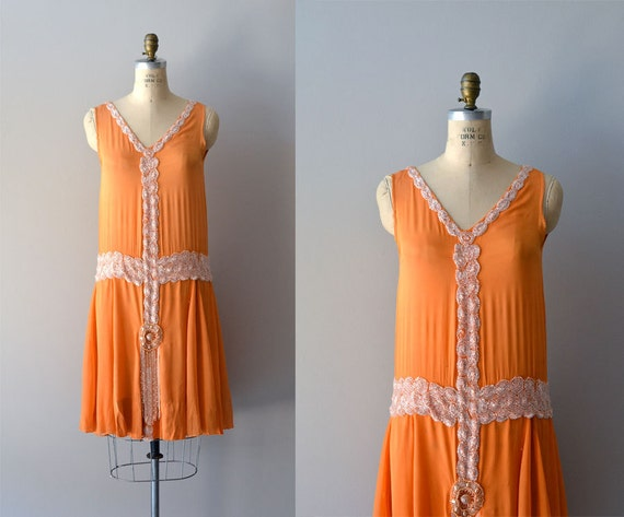 1920s dress / beaded 20s dress / Danse Mandarine dress