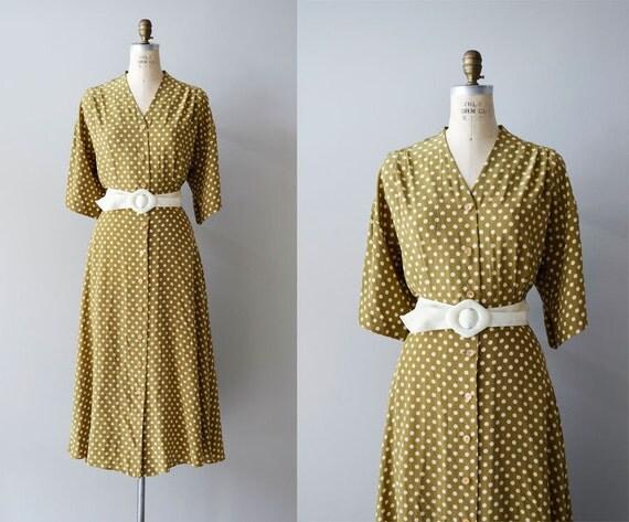 polka dot dress / polka dot 80s dress / Periopolkadot dress