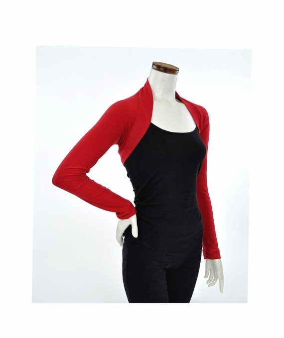 Eco-Friendly Bamboo Shrug Bolero - Red