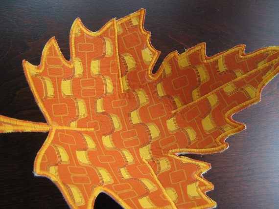 Fabric Bowl , Autumn Leaf