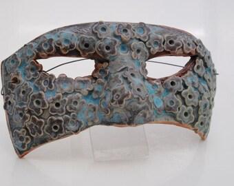 ceramic mask sculpture art clay face garden home decor wall art mask