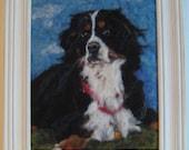 "10 x 12"" Custom Needle Felted Pet Portrait to Frame"