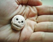 Sugar Skull Beads, Black Stain