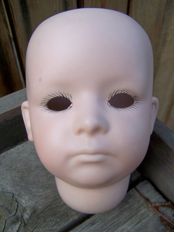 Vintage Doll Parts , Porcelain Head 11 Germany 39 1246 , Handpainted signed Wilma Edmonds No. 2 - 89