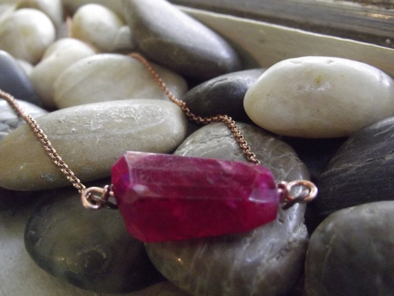 Blue fire Hot Pink Moonstone Pendant Ready to ship