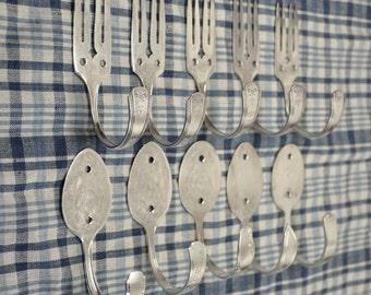 Wholesale LOT 5 Fork Hooks 5 Spoon Hooks