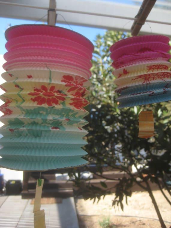 Vintage japanies paper lanterns