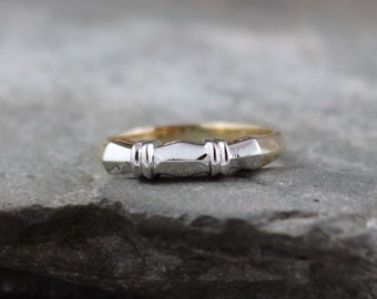 Vintage Wedding Band - 14K /18K Gold  - Circa 1960's - Retro Wedding Ring - Vintage Jewellery from A Second Time