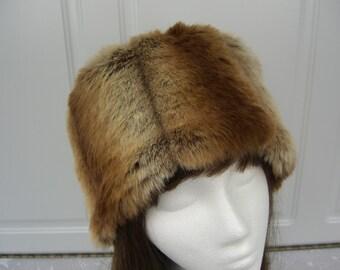 Chinchilla Faux Fur Hat,  Faux Fur Hat, Bucket Hat, Women's Winter Hat, Women's Fur Hat
