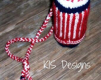 Brioche Stitch Water Bottle Carrier Knitting Pattern