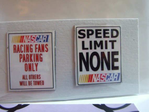 Handmade Upcycled Set of 2 Nascar Racing Fan Mini Magnets - Art Decor for Kitchen, Locker, Office w Free Shipping