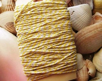 Bakers Twine-25 yards-yellow and White