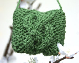 Christmas Ornament- Wool Ornaments- Small Ornaments- Tree Ornaments- Sweater Ornament- Cable Knit Christmas Ornament- Christmas Decoration