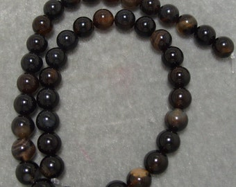 16 inch Full Strand 10mm Dyed Black Agate  Gemstones (187)