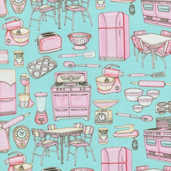 Custom Order BollaBath Retro Kitchen RJR Fabric 2 Yard