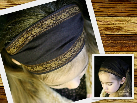 Headcovering Bandana Brown Headband Brown Head wrap Head covering Women or Children Bandanna Hair Band Hair Wrap Head Scarf MANY COLORS