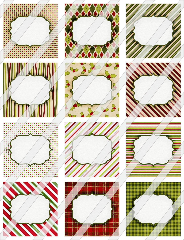 druckbare weihnachts etiketten und tags digital collage sheet. Black Bedroom Furniture Sets. Home Design Ideas