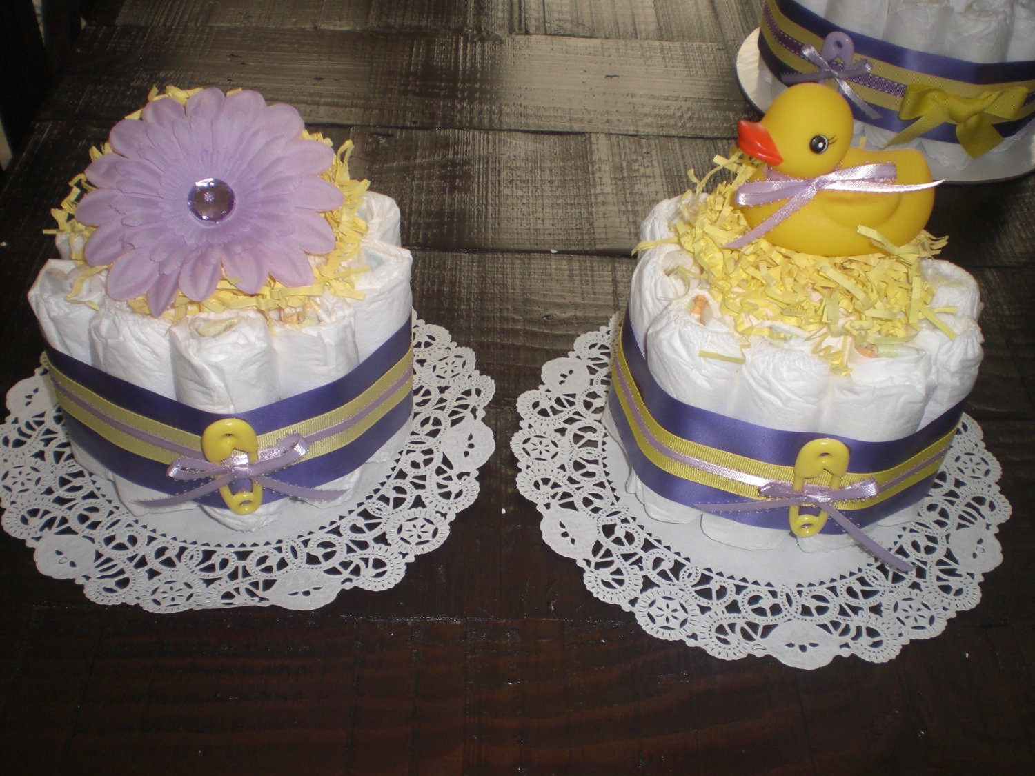 Superb Pink Yellow Purple Baby Shower Part - 11: ?zoom