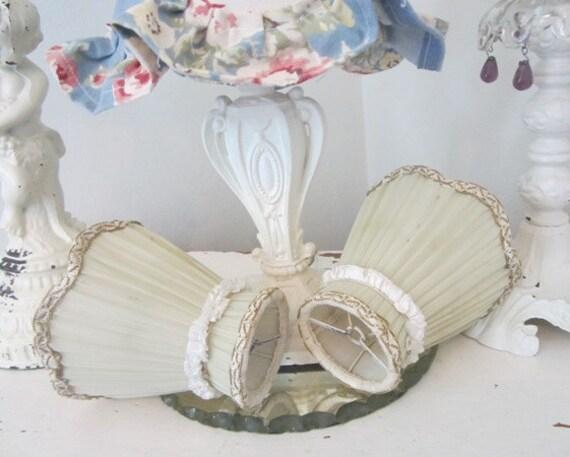 Antique Lamp Shades - Passementerie - Vintage - Shabby French Cottage Paris Apt.
