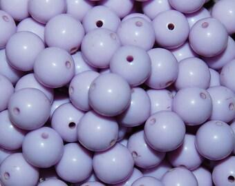Vintage 36 Pale Lavender 10mm Lucite Beads N2R