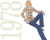 70s Separates Vintage Pattern - Butterick 5236 - 1970s Top, Jacket, Pants Sewing Pattern - Uncut, Factory Folds