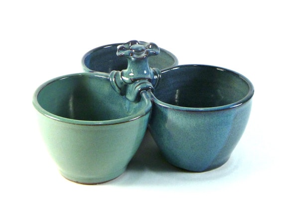 3 part condiment bowl set