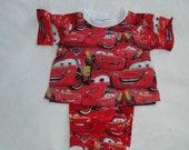 Boys or Girls Size 4 Disney Cars -- Pajamas -- Lightning McQueen