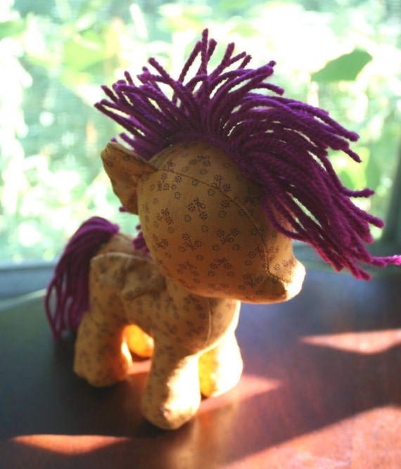 Physical Copy, Filly & Colt Plush Sewing Pattern with Unicorn Horn and Pegasus Wings (Pony, Plushie, Stuffed Toy)