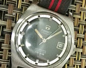 Rare Tissot Stainless Seastar Automatic Movement Blue Face - 1970.