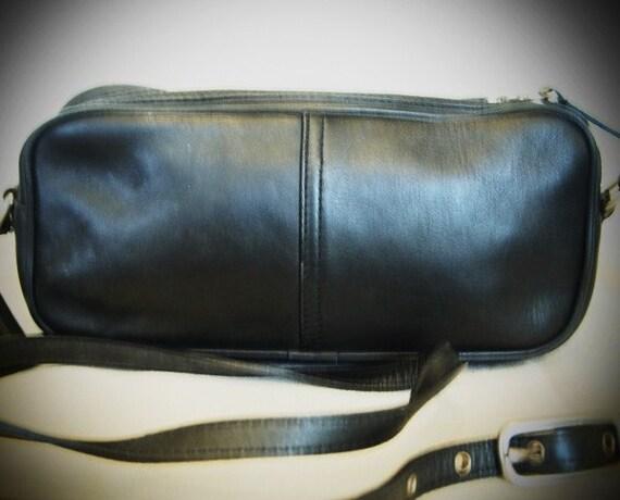 Vintage, Authentic, Coach, Black, Genuine, Leather, Capsule, Handbag, Hand, Bag, Purse, Adjustable, Shoulder, Strap, Silver, Metal,