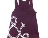 Womens AMPERSAND and Bird - american apparel Tri-Blend Racerback Tank Top S M L (8 Color Options)