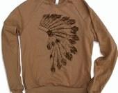 Unisex - HEADDRESS - Flex Fleece Pullover Classic Sweatshirt - Camel - American apparel sizes xs s m l xl