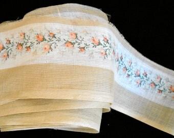 1920's Soft Silk Blend Rosebud Ribbon