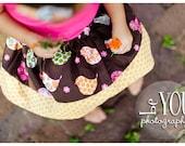 Childrens Clothing.... Buy 2 get 1 Free Skirt Sale....Swirly Bird Twirl Skirt by laken and lila