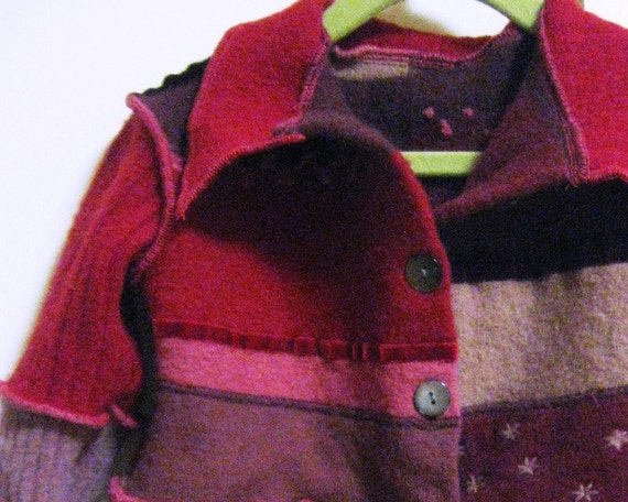Back to School Girls Lambswool Sweater Jacket, Size 6 to 7